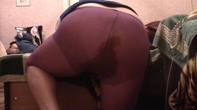 Oxana Violet Tights Messy