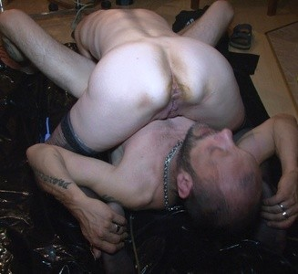 Lady Darlin playing with her slave