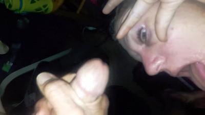 New Slave Girl - Cumshot In Eye Part 1