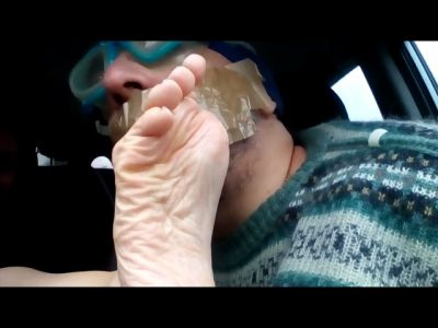 Foot Smelling In The Car