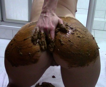 Ass smeared with shit