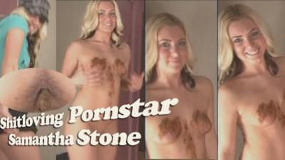 Pornstar Samantha Stone shitplaying
