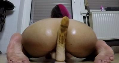 Assfuck and fucked dildo blown