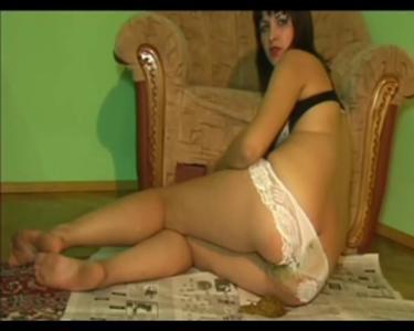 Monica White Panties Messy