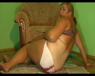 Oxana Red Mess In Panties