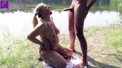 Public on the lake men piss swallowed and cock blown deep!