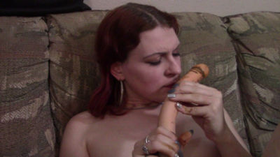 Licking A Shitty Dildo