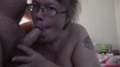 Filling Her Mouth With His Cum